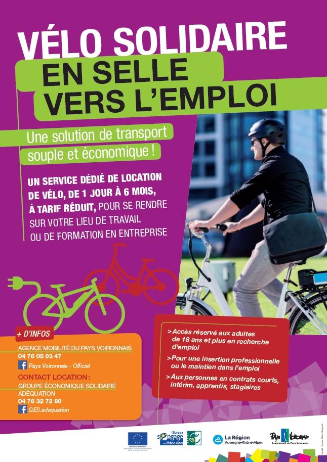 affiche vélo solidaire