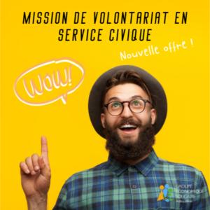 Nouvelle offre de mission volontariat en service civique au Groupe Adéquation