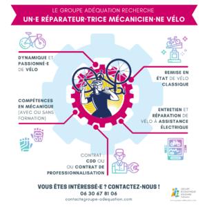 Appel à candidature /  réparateur·trice Mécanicien·ne Vélo